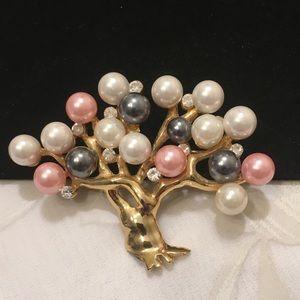 Vintage Tree of Life With Pearls And Rhinestones